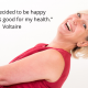 happiness quote by Voltaire